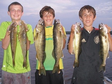 Gage, Tony and Carl with nice walleyes