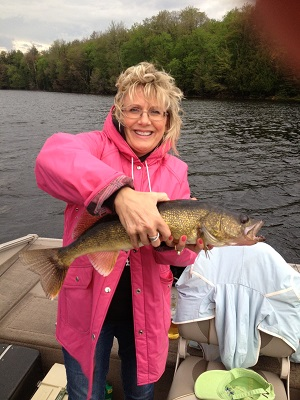 Laura Cunningham's 22.5 inch Walleye caught May 30, 2013